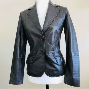 Zara | Genuine leather blazer